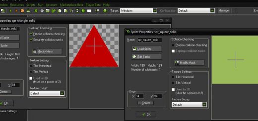 example drag and drop game maker studio