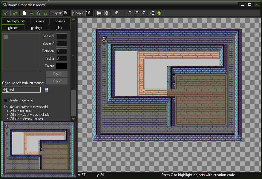 Room con tiles dungeon tutorial game maker studio