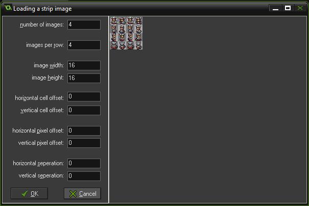 sprite guerrero desde strip dungeon tutorial game maker - paso 1