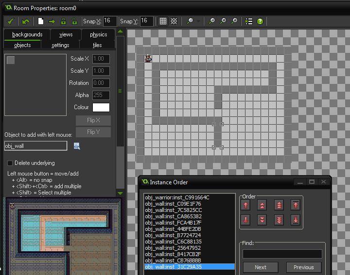 total objetos wall en room dungeon tutorial game maker studio