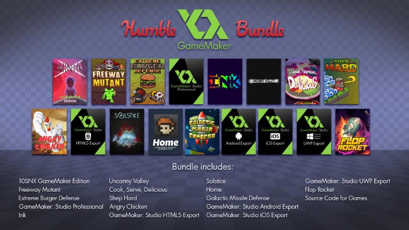 humble bundle game maker studio 2016