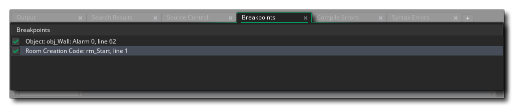 breakpoint output window gms 2