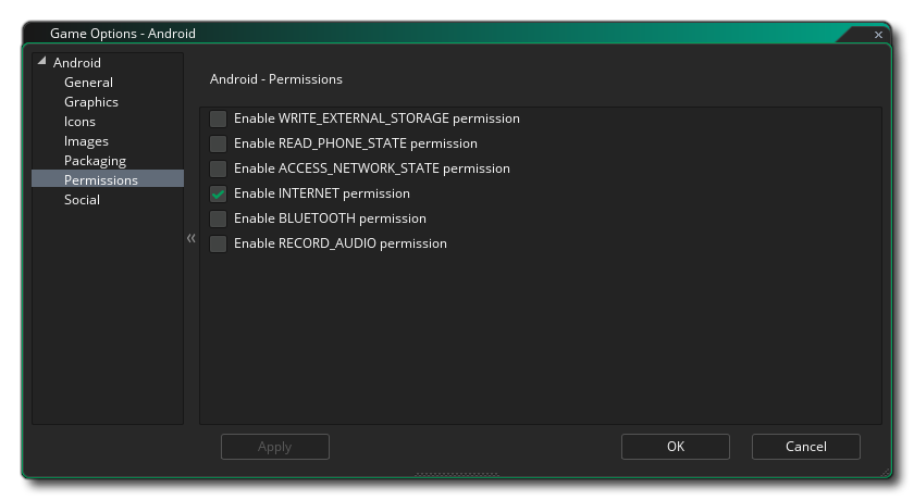 android permissions options gms 2
