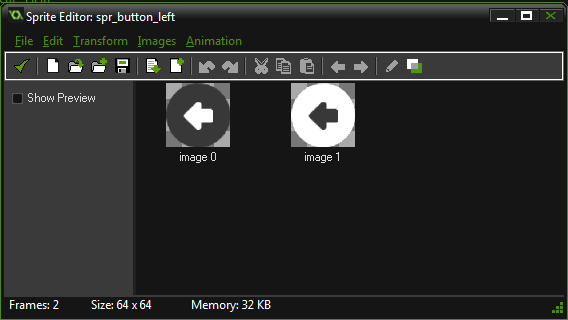 Imagen boton sprite game maker