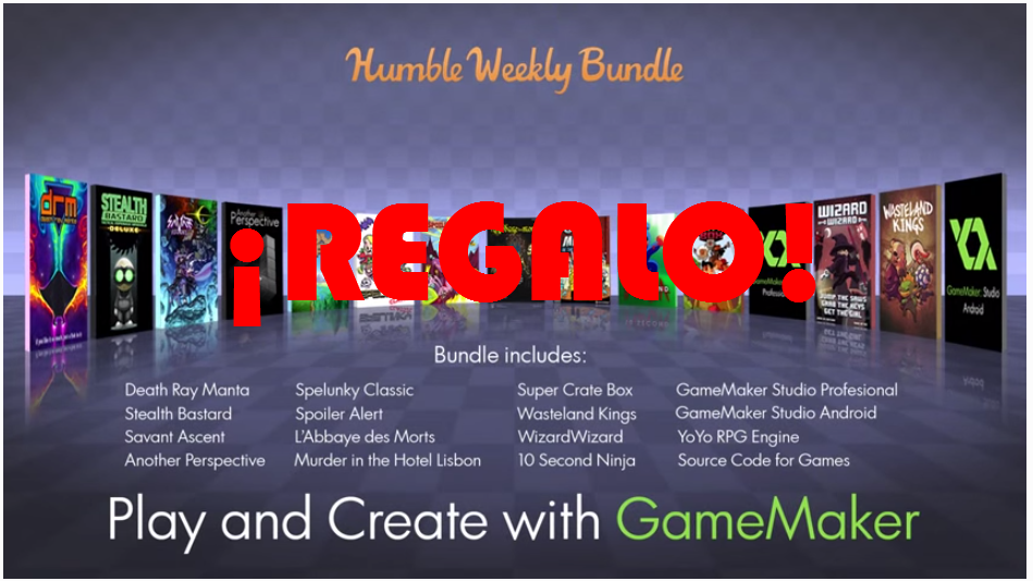 regalo humble weekly bundle game maker studio