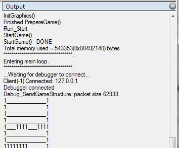 output window debug game maker