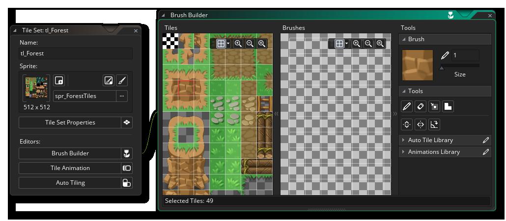 brush builder editor tilesets game maker studio 2