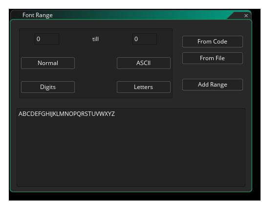 add range editor fonts gms 2