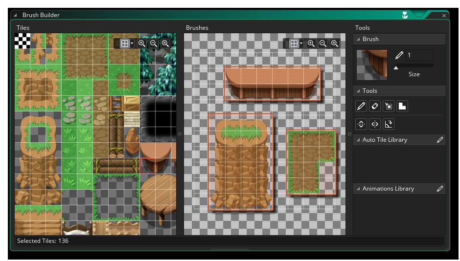 pinceles personalizados de tiles game maker studio 2