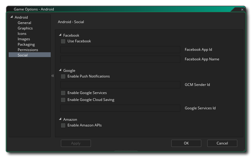 android social options gms 2