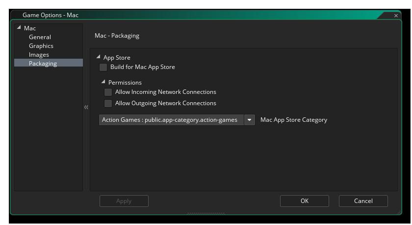 mac packaging options gms 2