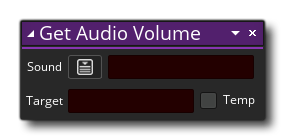 dnd get audio volumen example