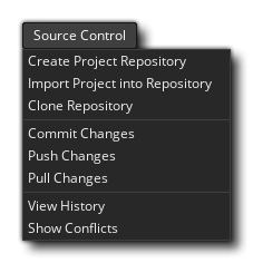 menu source control game maker studio 2